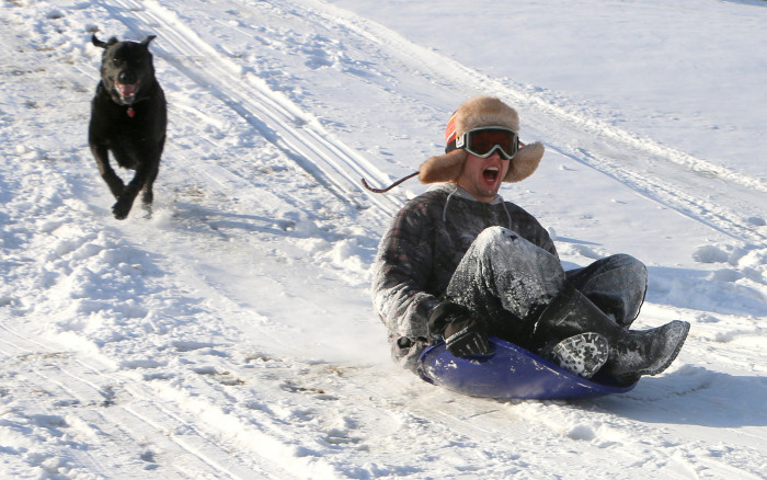 8. The steep slopes at Upper Sioux Agency State Park make it one of the most fun places to sled - but beware, the hill near the entrance is a challenging one!