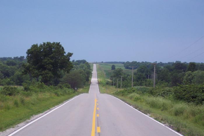 13.Country road outside Arrow Rock, Missouri
