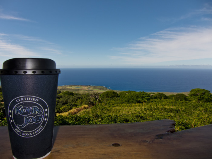 13. Kona Joe's Coffee Farm overlooks the ocean.