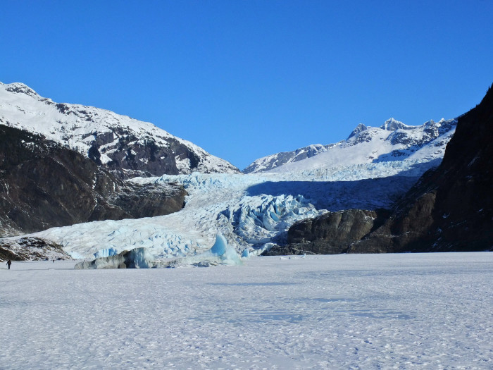 9. Sled hill at Mendenhall Glacier Recreation Area in Juneau