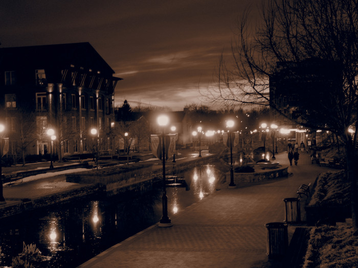 11) Pictured here are the serene street lights of Frederick.