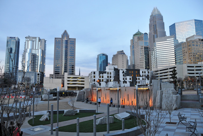 10. Charlotte from Romare Bearden Park...where the Panthers rally took place just this past Friday!