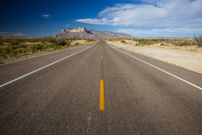 11. Ah, the wide open road. There's just nothing like it. (Chihuahuan Desert)
