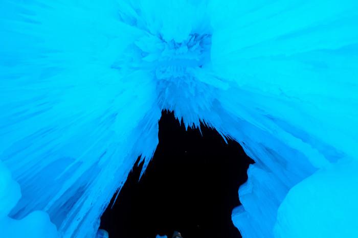 13. The night sky through the ice castles.