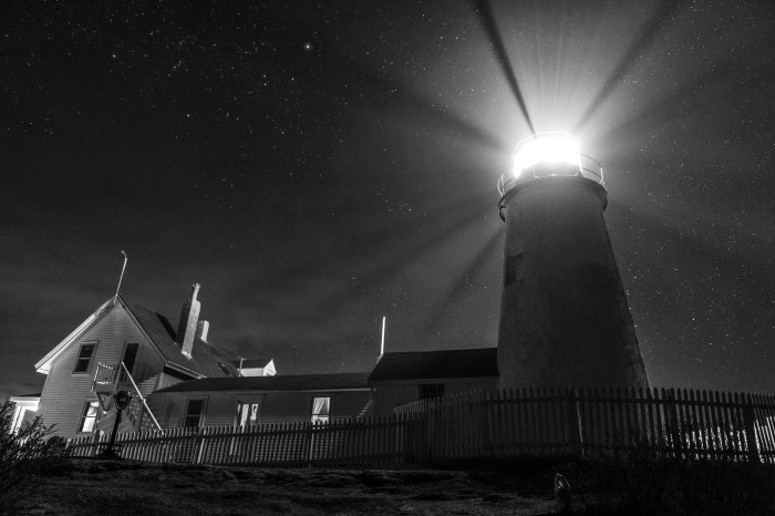 1. Any of Maine's lighthouses at night...