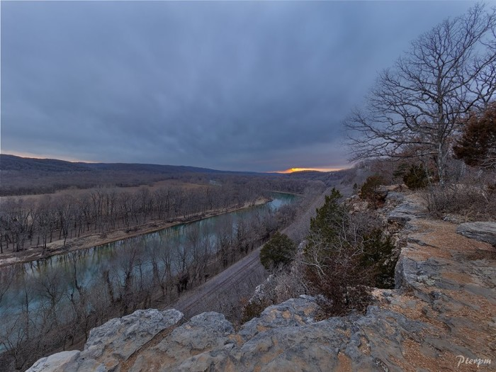 14.The sun peaking its head through the clouds at Castlewood State Park.