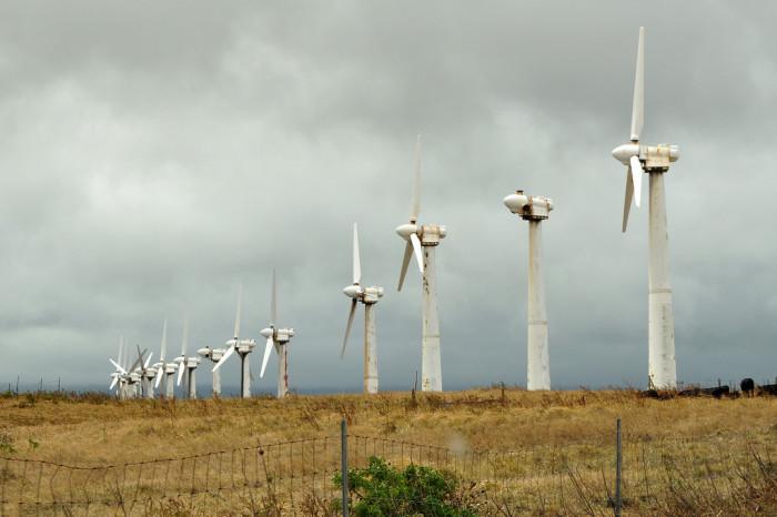 14. This photograph of a Big Island wind farm feels quite serene.