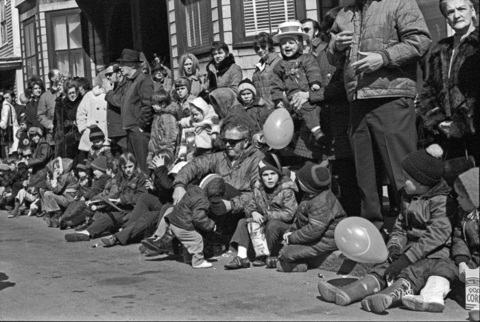 17. Watching the St. Patrick's Day parade in South Boston, 1971.