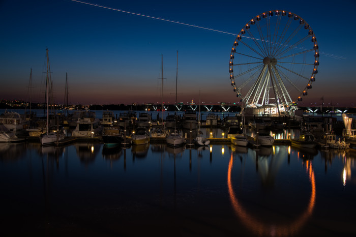 7) Love the reflection of the Capital Wheel on the water.
