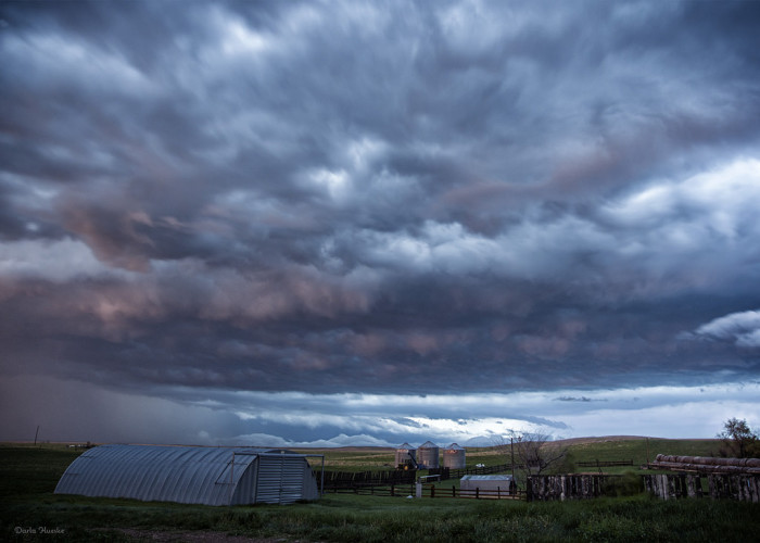 8. Experiencing moody yet gorgeous clouds - these taken over a farm in western ND
