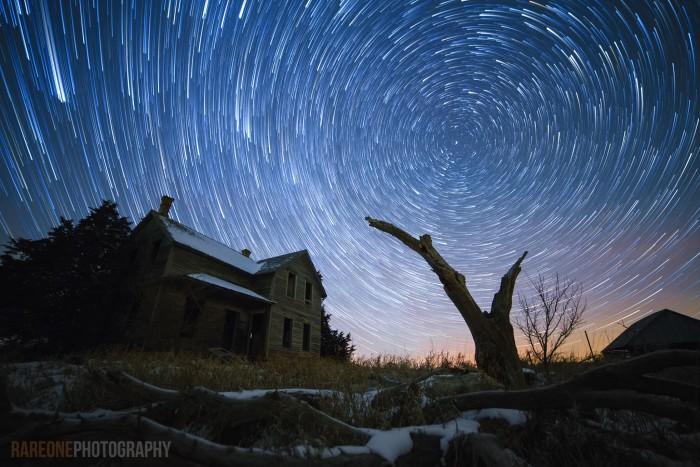 21. A breathtaking long exposure of the stars near Elgin.