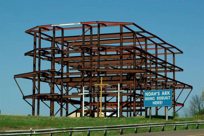 7. The standstill progress of Noah's Ark.