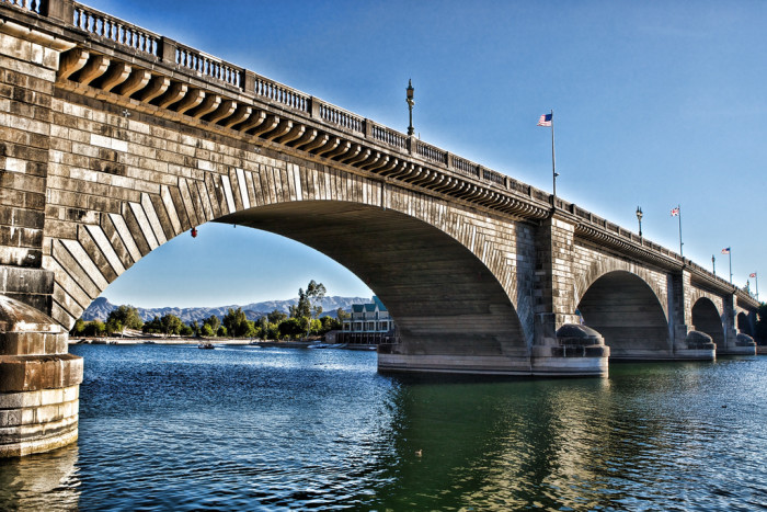 12. The London Bridge you grew up singing about certainly isn't falling down any time soon. In fact, it currently sits in Lake Havasu City.