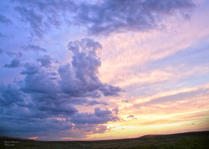 1. Getting to see beautiful prairie sunsets like this one near Marshall, ND
