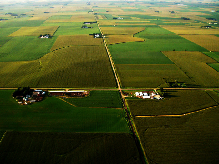 9. This picture-perfect shot of Iowa was taken from a hot air balloon. Now that's beautiful.