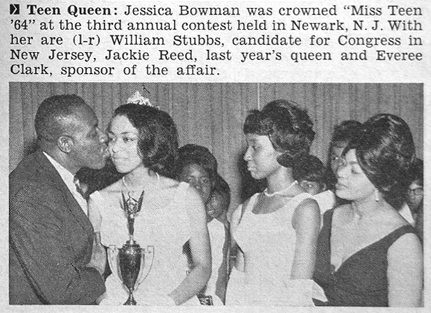 """4. Jessica Bowman is crowned """"Miss Teen '64"""" in Newark."""