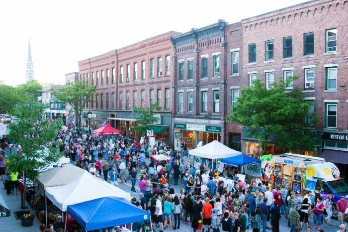 Friday evening street festival.