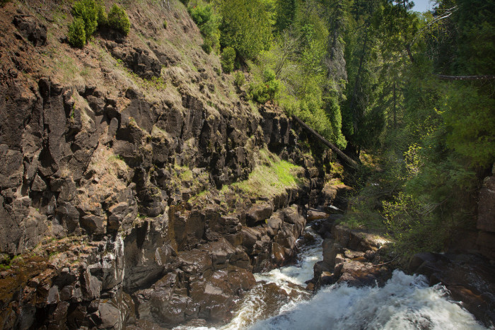 The park is also notable for the volcanic gorge through which the Manitou River flows. It's the product of 1.1 billion year old lava flows, later moved by glaciers.