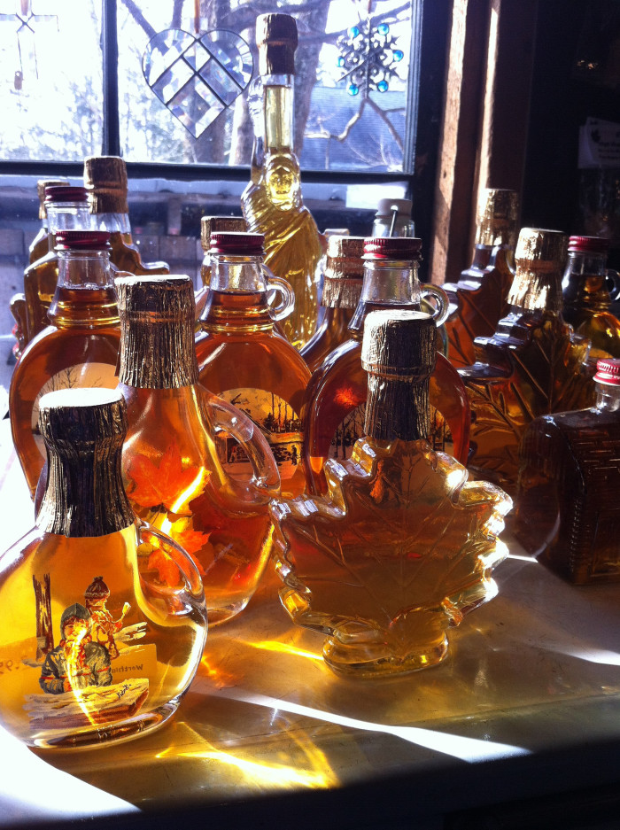 15. Real maple syrup. From, you know, maple trees. Not pancake syrup. Nothing against the bottle shaped like a lady, but we're New Englanders and we know what maple syrup is supposed to taste like.
