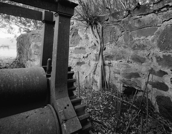 15. The R. W. Meyer Sugar Mill located off State Route 47 in Kualapuu, Molokai.