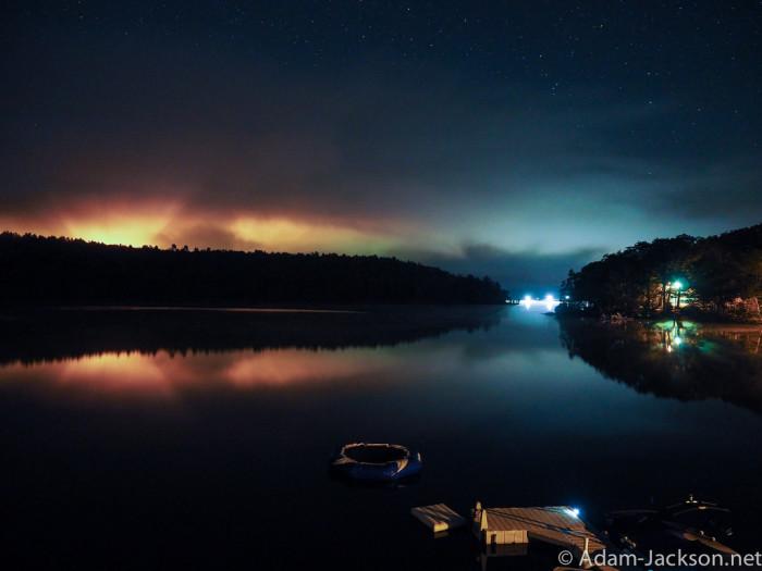 12. Twilight on Mascoma Lake is breathtaking.