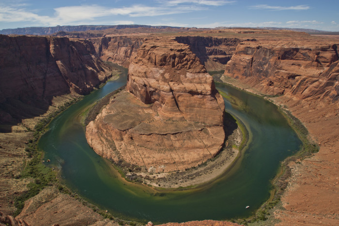 9. This spot is located along the Colorado River and is one of the most photographed places in the state.
