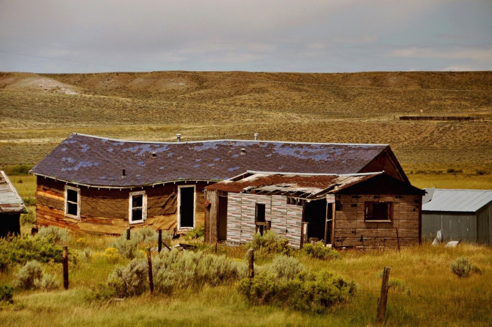 4. An abandoned home in Wyoming that is clearly not safe to inhabit.