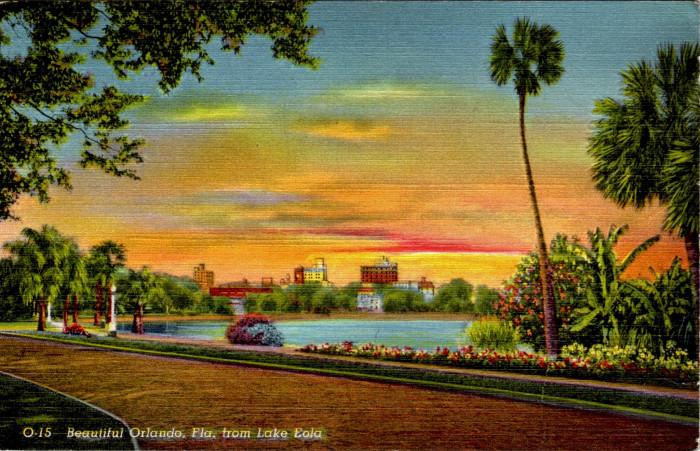 """21. """"Beautiful Orlando, Florida, from Lake Eola"""""""