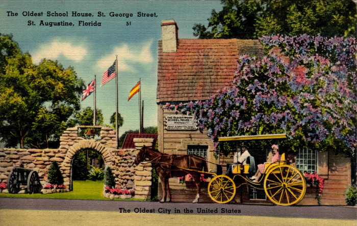 """16. """"The Oldest School House, St. George Street, St. Augustine, Florida - The Oldest City in the United States"""""""