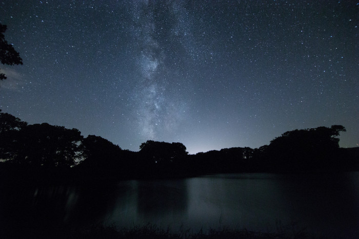 8. You can almost imagine a UFO coming into focus from way up in this starry sky.