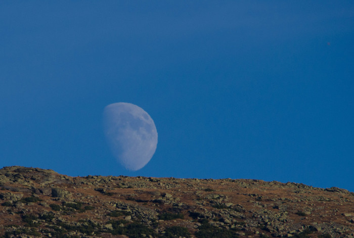 4. The moon rising over Mount Lafayette looks other-worldly.