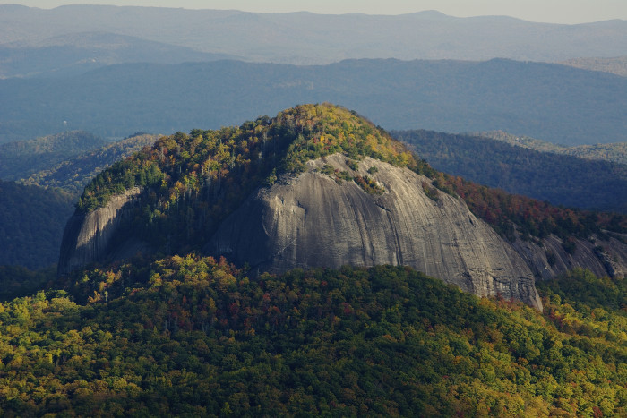 1. The breathtaking and ancient Looking Glass Rock. Composed of Whiteside Granite formed 390 million years ago.