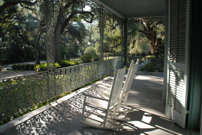 The threat of ghosts doesn't keep guests from visiting these idyllic grounds.