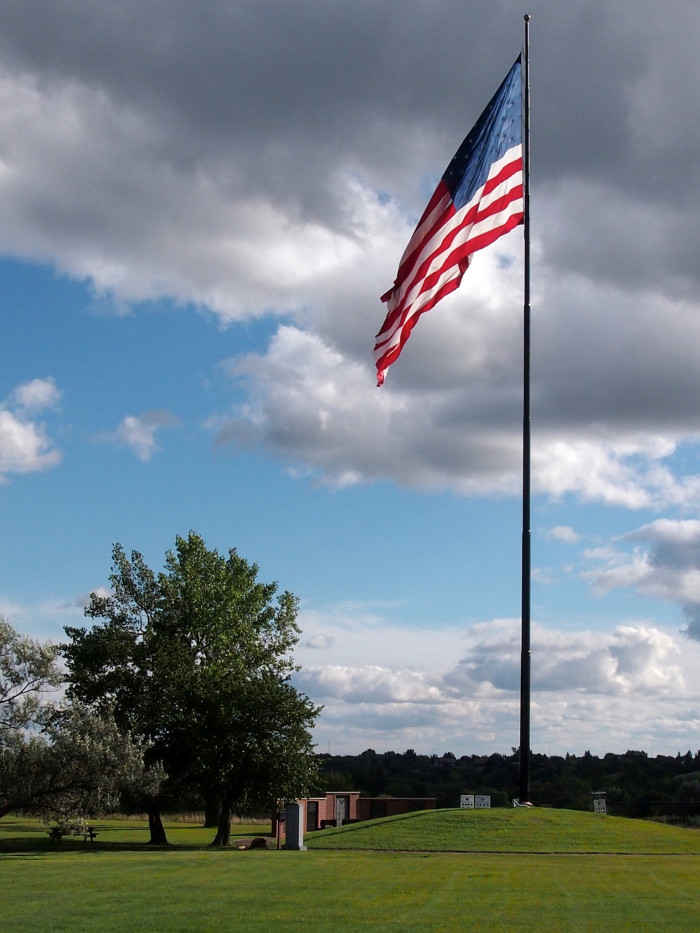 1. We proudly display the American flag.