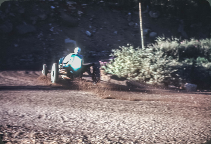 """9. """"Practicing for the Pikes Peak Hillclimb Race in 1954."""""""