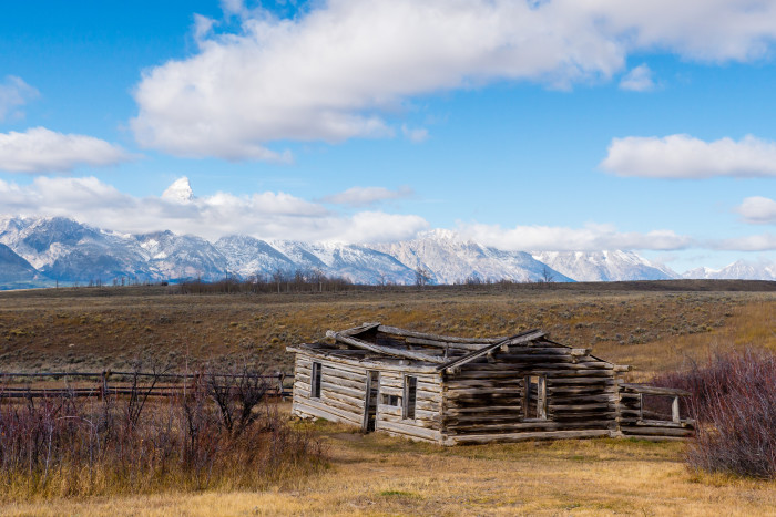 1. Abandoned cabin in the Gros Ventre section of Grand Teton National Park.