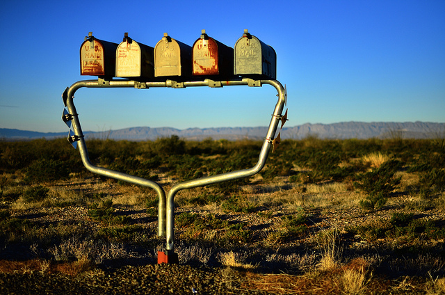 4. Getting mail the old fashioned way is an undeniable perk of slow, rural living. (Shafter)