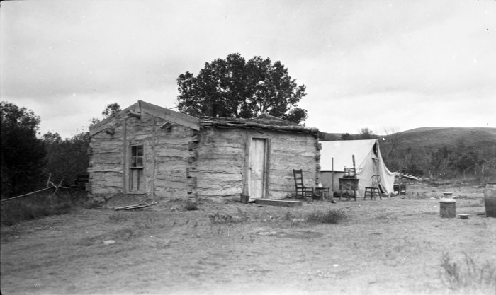 Sioux home on the Crow Creek Reservation - creepy houses in south dakota
