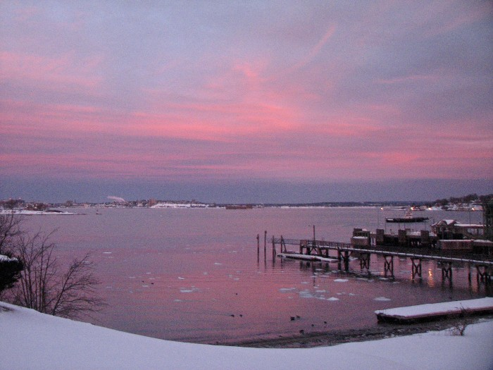 """2. """"In a world where Peaks Island is overtaken by the most magnificent sunrise the North has ever seen!"""""""