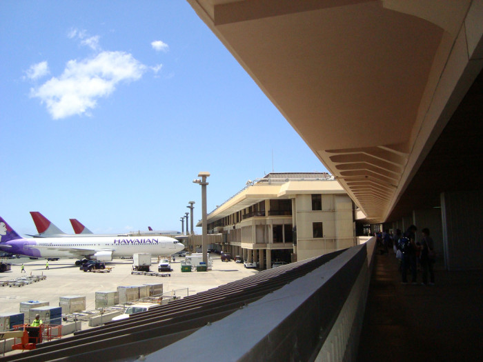 16) Dude, the airport is literally outside. How cool is that?