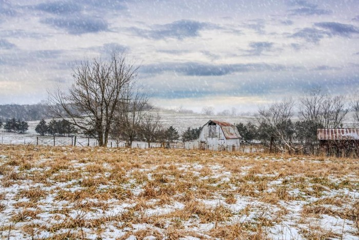 16.Like a picture postcard, this little homestead looks perfectly warm despite the cold.