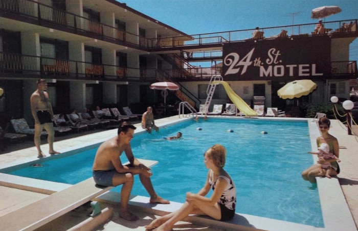 14. 24th St. Motel in North Wildwood, circa the 1960s.