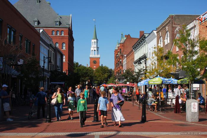 17.  Church Street Marketplace -  Main St., Pearl St., Burlington