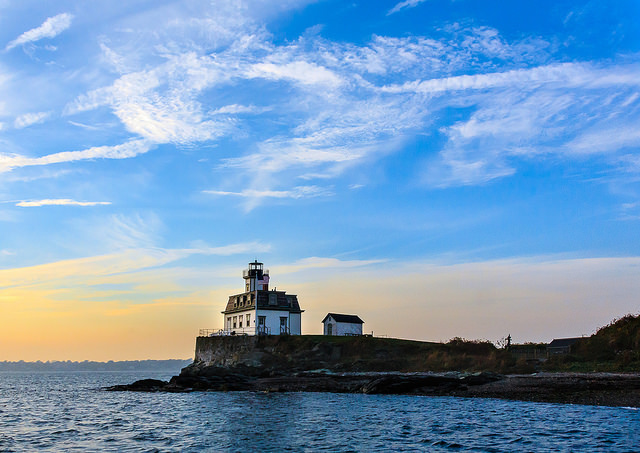 6. Rose Island Lighthouse in Newport: Beautiful lighthouses are scattered across the state's coast.