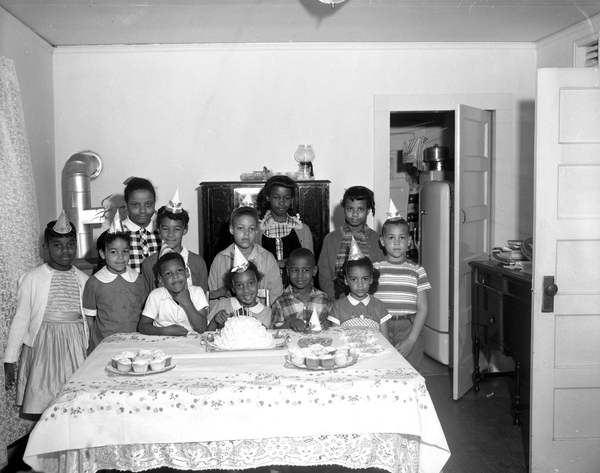 22. Eighth birthday party for Harriette Stewart in Tallahassee, April 20, 1959