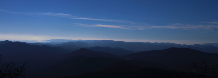 Or maybe you hike midday, when the top of the mountain still is spectacular: