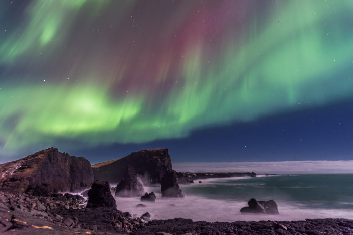 16) We get the Northern Lights.