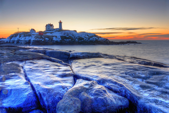 15. A freezing Nubble morning.