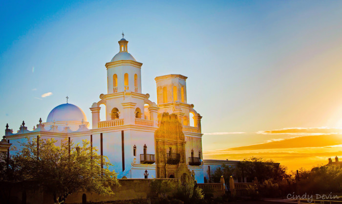 2. Check out San Xavier del Bac Mission in Tucson, our white dove of the desert and the oldest European structure in the state.