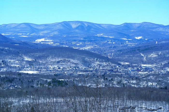 10. A blustery and blue mountainous landscape in North Adams as viewed from the western summit of Mt. Greylock.
